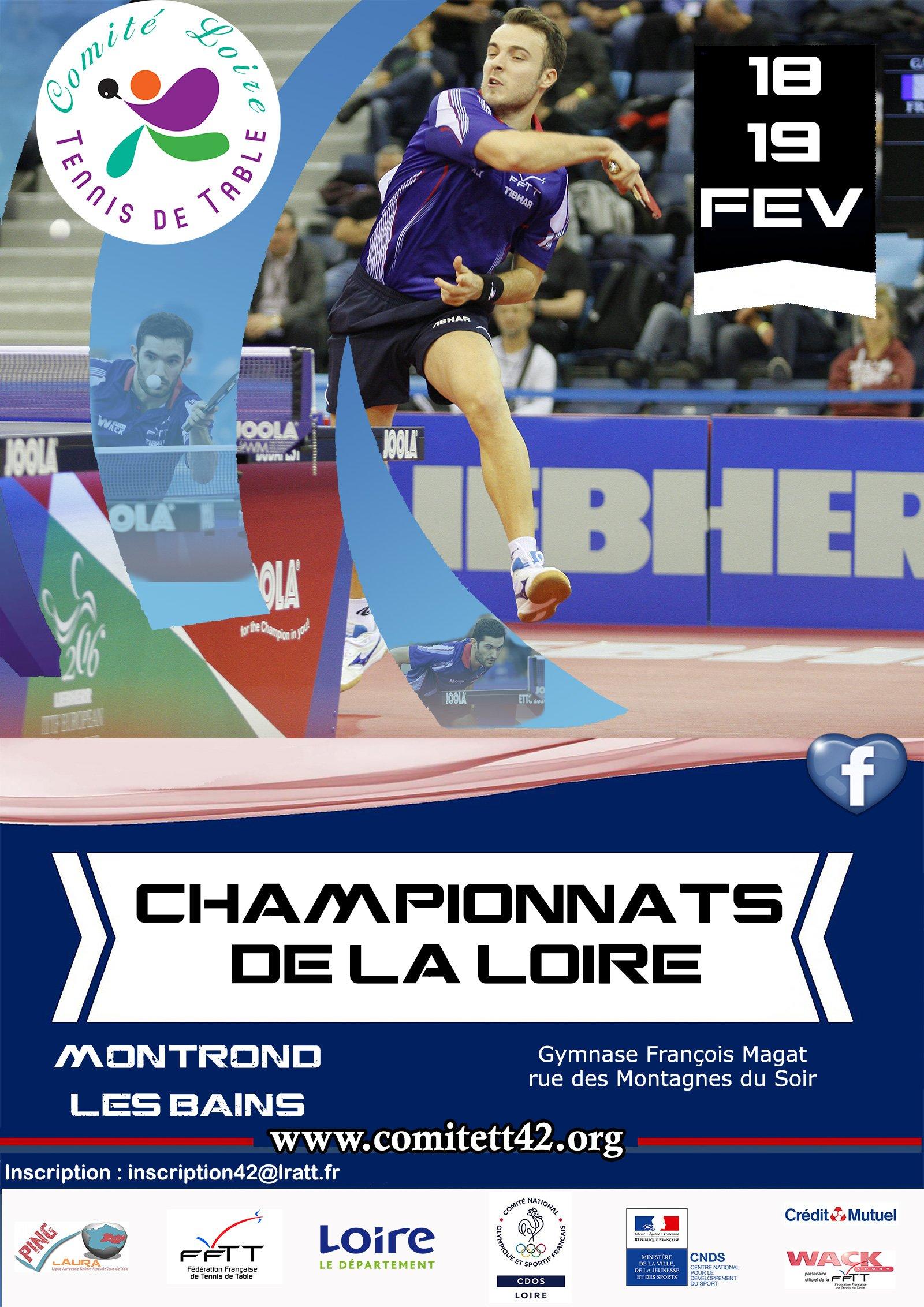 Résultats des Championnats Loire Haute-Loire 2017/2018