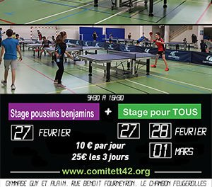 Stage Comité de la Loire les 27 – 28 février et 1er mars