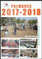 Palmarès 2017-2018