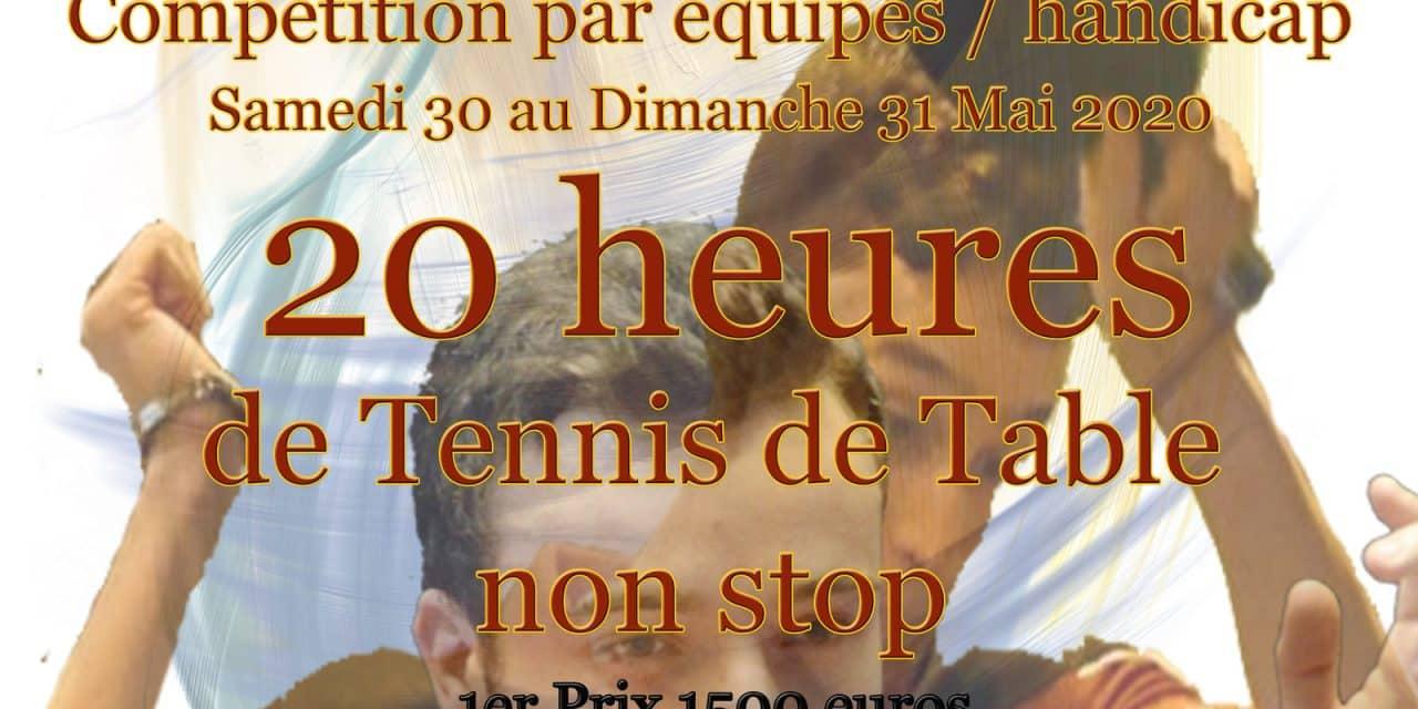 Tournoi de Promotion International – Iron Ping – 30 et 31 mai 2020