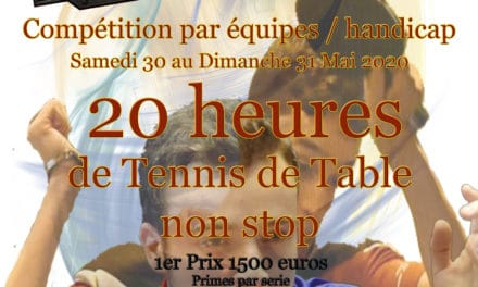 Tournoi de Promotion International – Iron Ping – 30 et 31 mai 2020