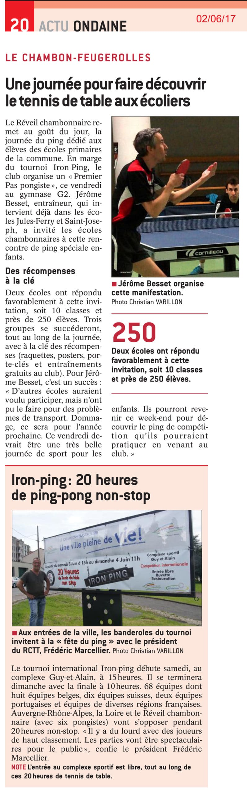 250 écoliers ont goûté au Ping Pong