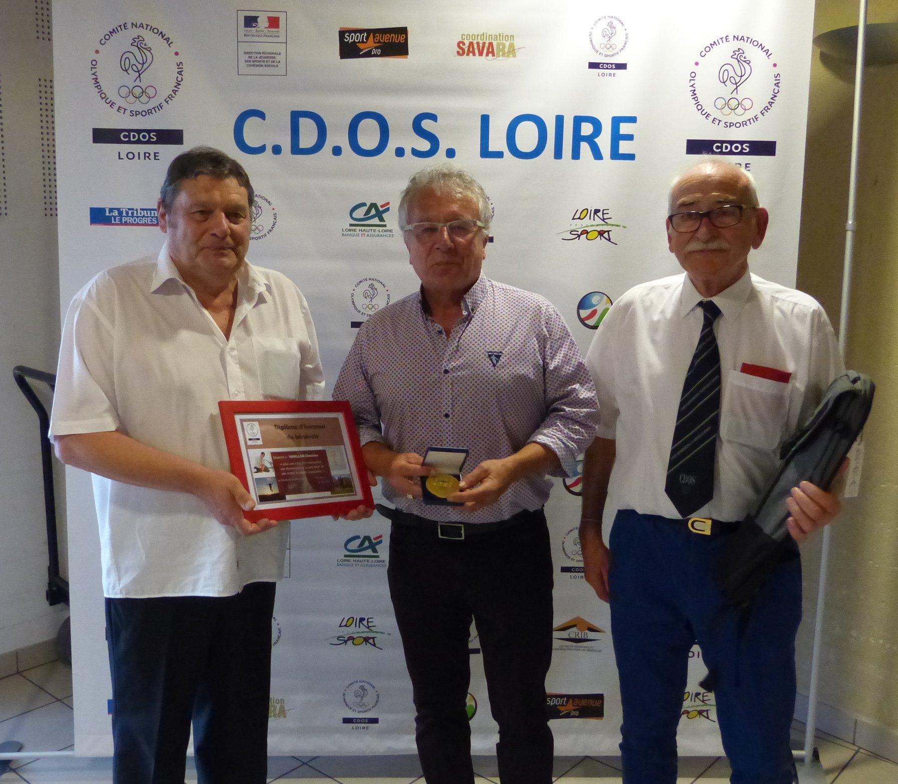 Christian Varillon, récompensé par le CDOSL