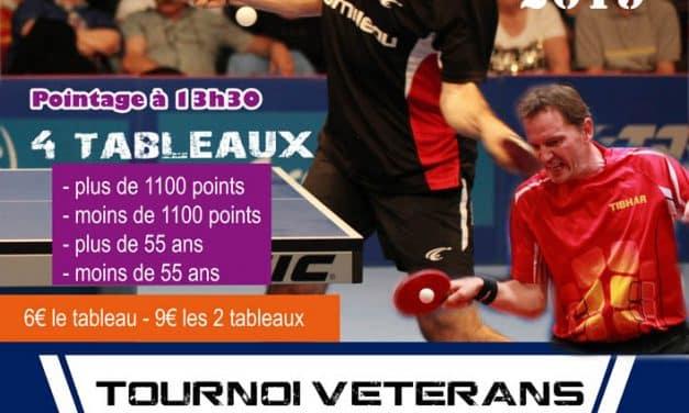 Résultats du tournoi Départemental Vétérans – 22 février