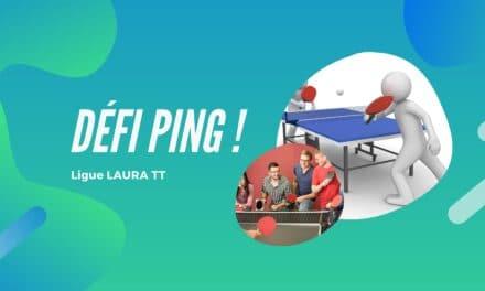 Participez au challenge Défi-Ping de la ligue AURA !