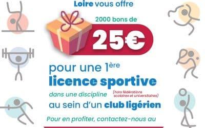 2000 bons d'achats de 25€ offerts par le CDOSL
