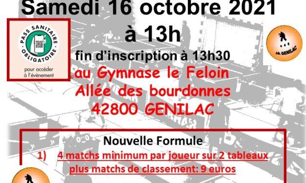 Tournoi amical de Genilac le 16 octobre