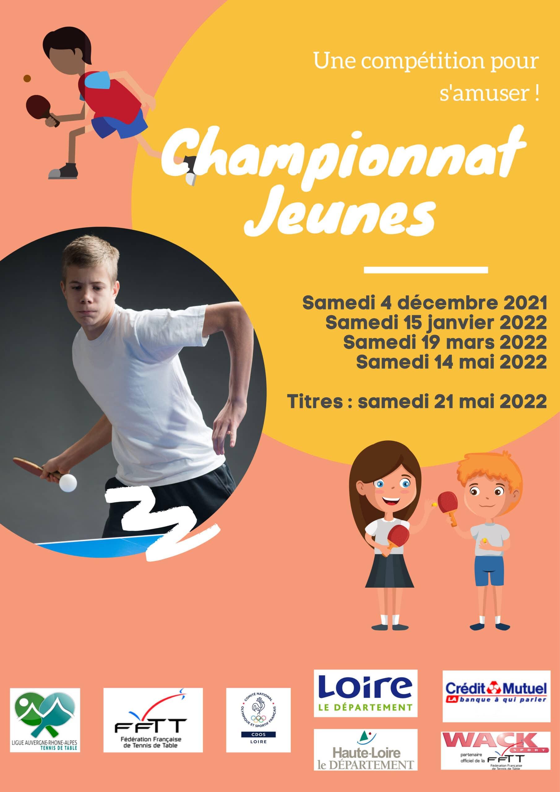 Championnat Jeunes saison 2021-2022